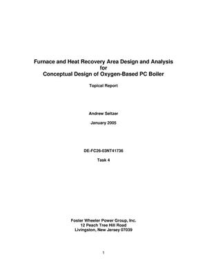 Primary view of object titled 'Furnace and Heat Recovery Area Design and Analysis for Conceptual Design of Oxygen-Based PC Boiler'.