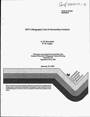 Primary view of object titled 'EUV lithography cost of ownership analysis'.