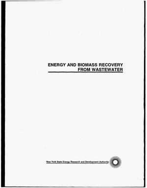 Primary view of object titled 'Energy and biomass recovery from wastewater. Final report, December 1989--December 1990'.