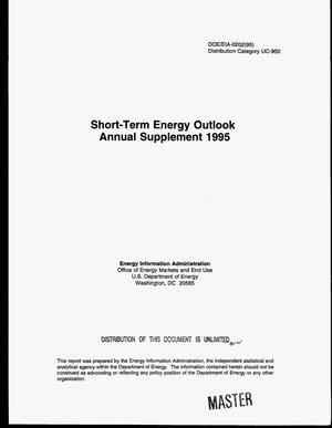 Primary view of object titled 'Short-term energy outlook, Annual supplement 1995'.