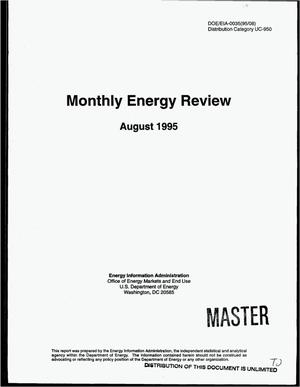 Primary view of object titled 'Monthly energy review, August 1995'.