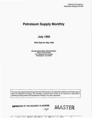 Primary view of object titled 'Petroleum supply monthly, July 1995 with data for May 1995'.