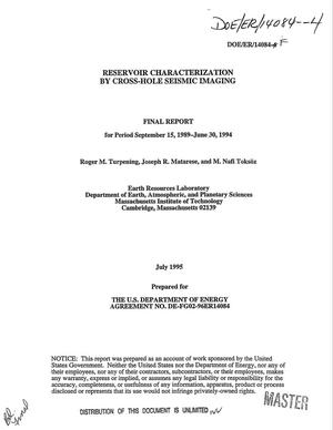 Primary view of object titled 'Reservoir characterization by cross-hole seismic imaging. Final report, September 15, 1989--June 30, 1994'.