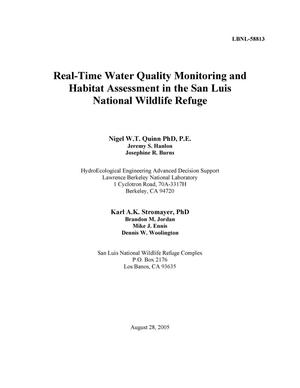 Primary view of object titled 'Real-Time Water Quality Monitoring and Habitat Assessment in theSan Luis National Wildlife Refuge'.