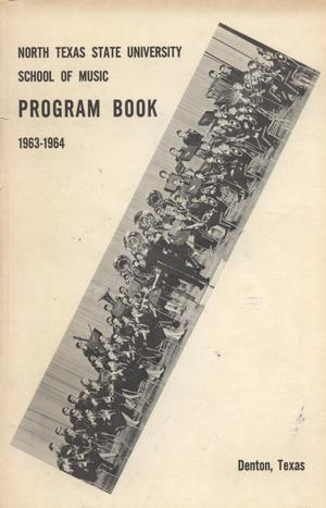 Primary view of object titled 'School of Music Program Book 1963-1964'.