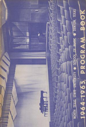 School of Music Program Book 1964-1965