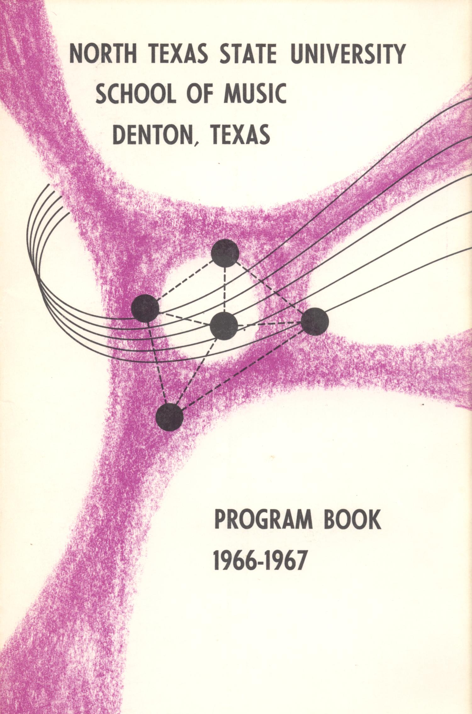 School of Music Program Book 1966-1967                                                                                                      Front Cover