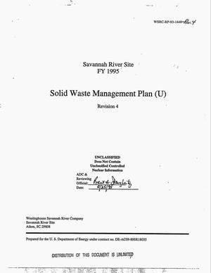 Primary view of object titled 'Solid Waste Management Plan. Revision 4'.