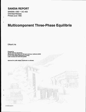 Primary view of object titled 'Multicomponent three-phase equilibria'.