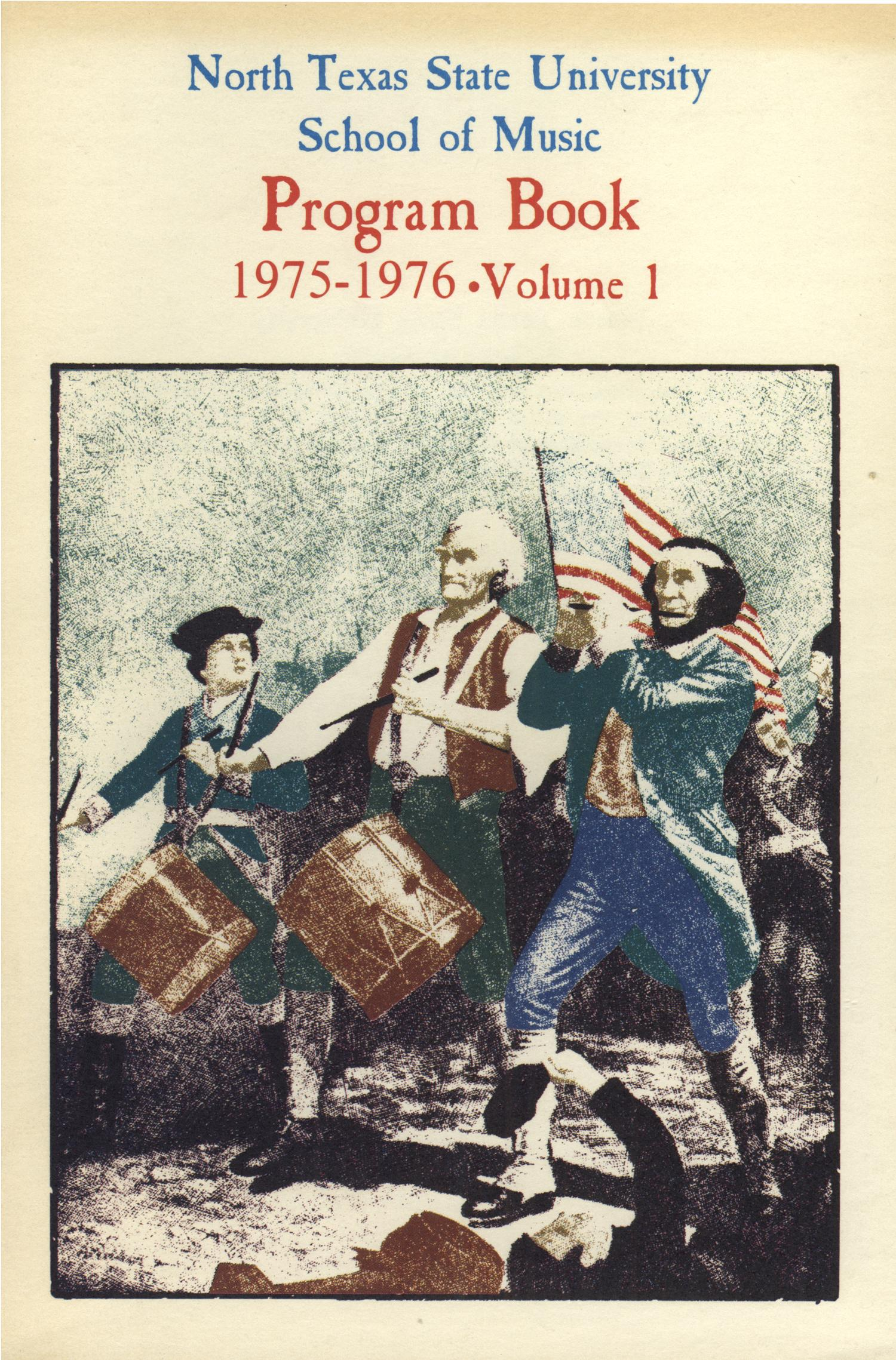 School of Music Program Book 1975-1976, Volume 1                                                                                                      Front Cover