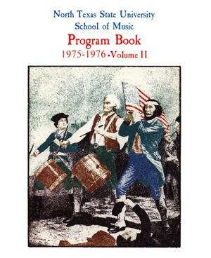Primary view of object titled 'School of Music Program Book 1975-1976, Volume 2'.
