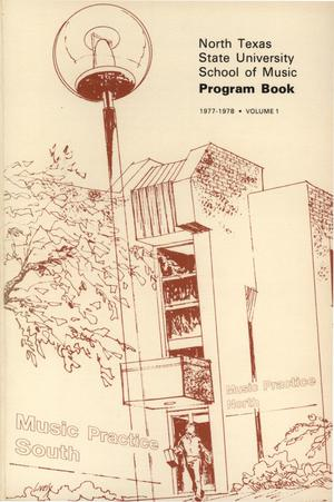 School of Music Program Book 1977-1978