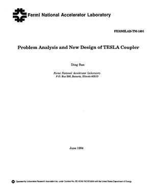 Primary view of object titled 'Problem analysis and new design of TESLA coupler'.
