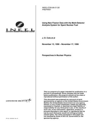 Primary view of object titled 'Using New Fission Data with the Multi-detector Analysis System for Spent Nuclear Fuel'.