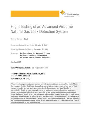 Primary view of object titled 'Flight Testing of an Advanced Airborne Natural Gas Leak Detection System'.