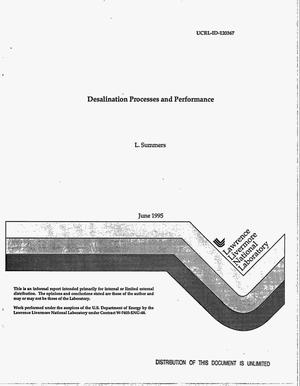 Primary view of Desalination processes and performance