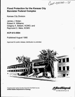 Primary view of object titled 'Flood protection for the Kansas City bannister federal complex'.