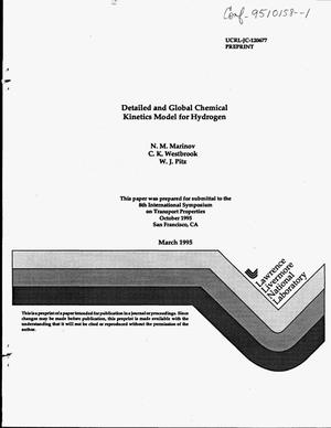 Primary view of object titled 'Detailed and global chemical kinetics model for hydrogen'.