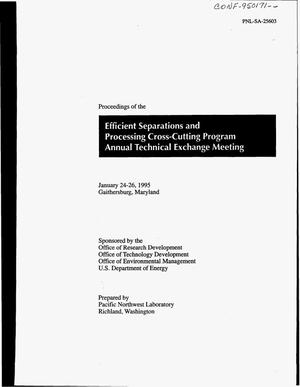 Primary view of object titled 'Proceedings of the Efficient Separations and Processing Cross-Cutting Program Annual Technical Exchange Meeting'.