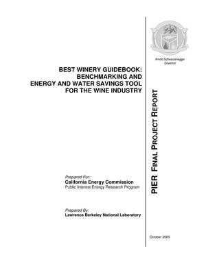 Primary view of object titled 'BEST Winery Guidebook: Benchmarking and Energy and Water SavingsTool for the Wine Industry'.