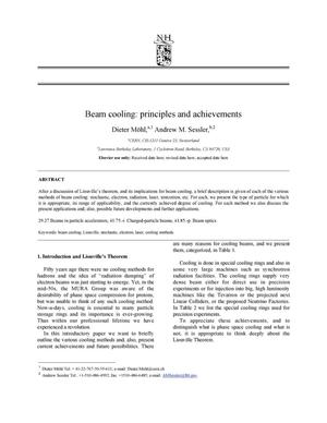 Primary view of object titled 'Beam cooling: Principles and achievements'.