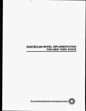 Primary view of object titled 'WastePlan model implementation for New York State. Final report'.
