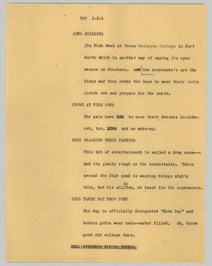Primary view of object titled '[News Script: TWC]'.