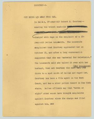 Primary view of object titled '[News Script: Courtney]'.