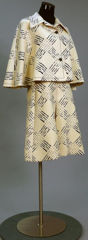 Primary view of object titled 'Ensemble - Dress and Cape'.