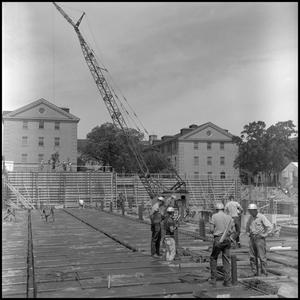Primary view of object titled '[Workers on Biology Building site 2]'.