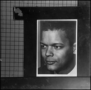 Primary view of object titled '[Photograph of Julian Bond on grid paper 5]'.