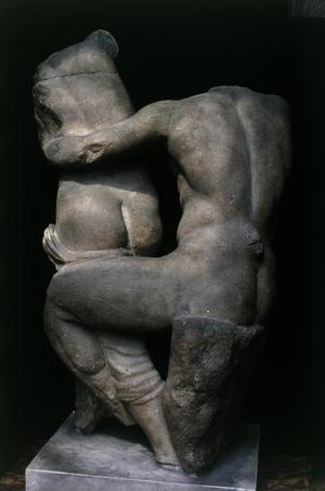 Primary view of object titled 'A Satyr Seizing a Nymph'.