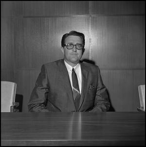 Primary view of object titled '[Board of Regents member with glasses]'.