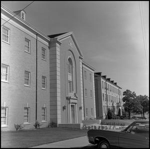 Primary view of object titled '[Biology Building and Chemistry Building from street]'.
