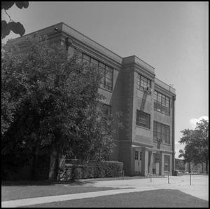 Primary view of object titled '[Psychology Building exterior side]'.