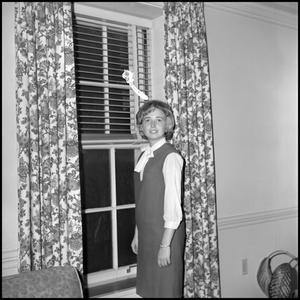 Primary view of object titled '[Roybeth Balckburn standing by window 2]'.