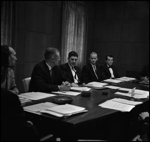 Primary view of object titled '[Members of the Board of Regents in discussion]'.