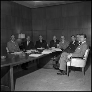 Primary view of object titled '[Board of Regents seated at table]'.