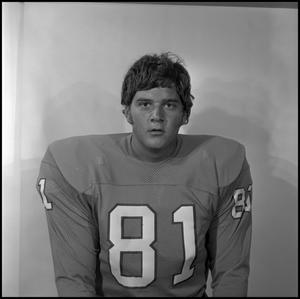Primary view of object titled '[Football player #81 portrait 1]'.