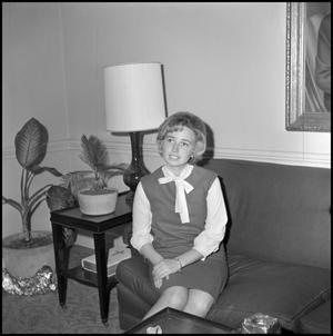 Primary view of object titled '[Roybeth Blackburn seated on couch 1]'.