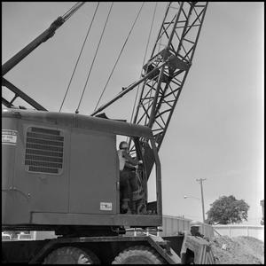Primary view of object titled '[Crane worker on site]'.