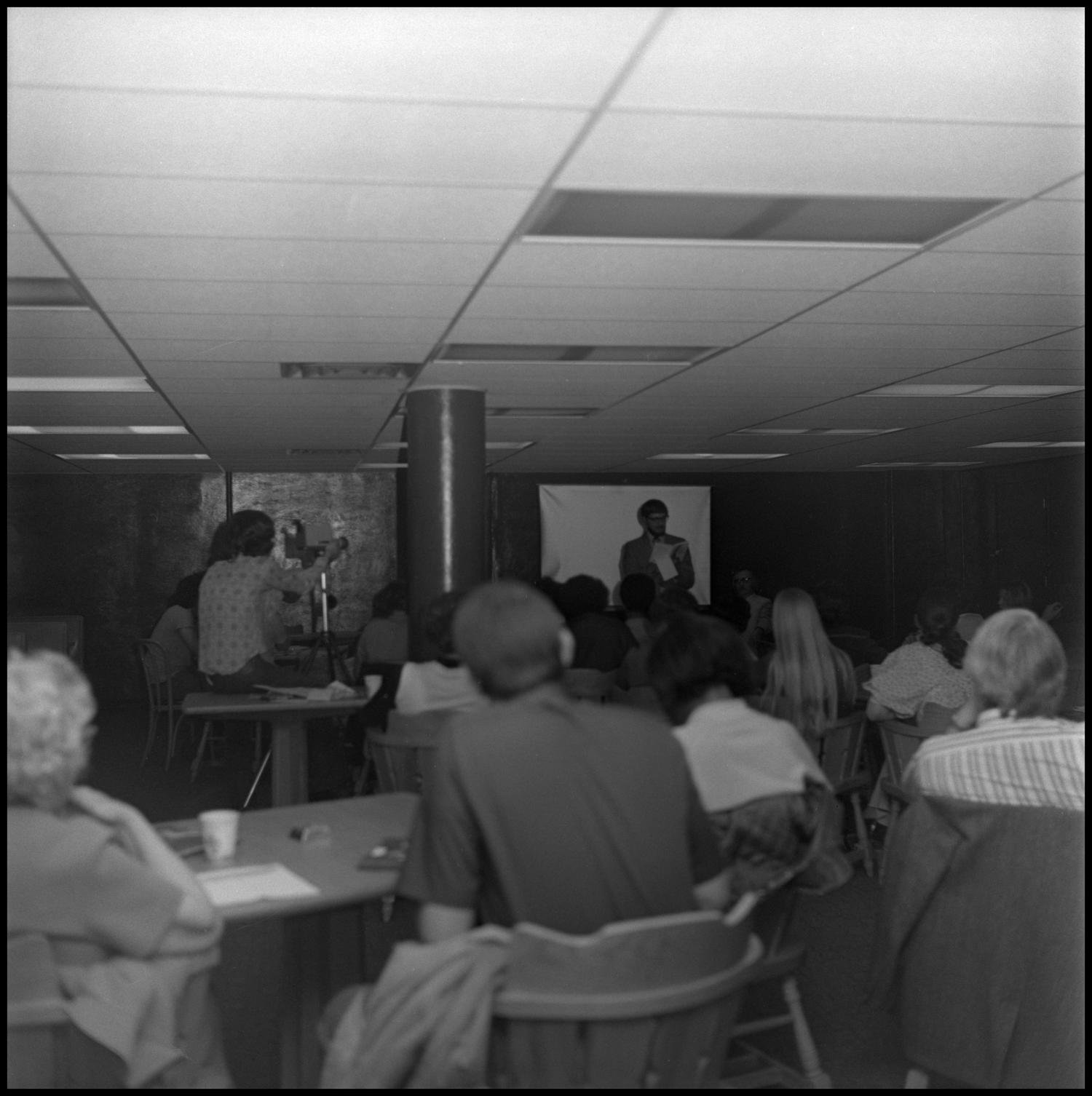 [Students listen to Professor during Black Awareness Week]                                                                                                      [Sequence #]: 1 of 1