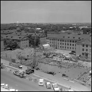 Primary view of object titled '[Aerial view of Biology Building construction 6]'.