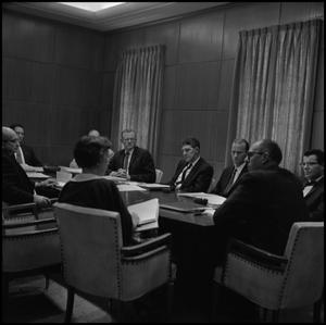 Primary view of object titled '[Steering Committee during meeting]'.