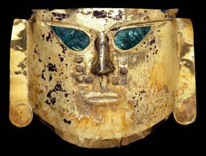 Primary view of object titled 'Ceremonial mask Lambayeque region Batán Grande'.