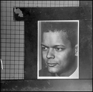Primary view of object titled '[Photograph of Julian Bond on grid paper 2]'.