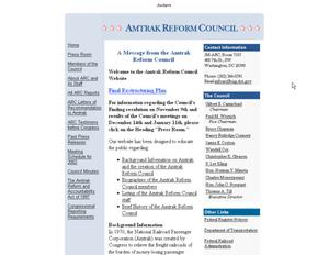 Primary view of object titled 'Amtrak Reform Council'.