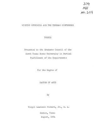thesis on winston churchill
