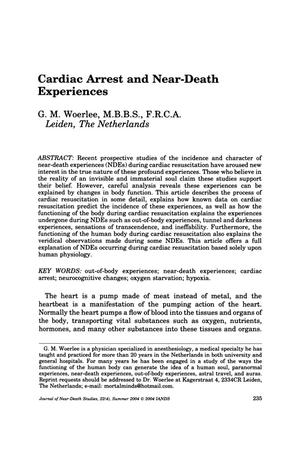 Primary view of object titled 'Cardiac Arrest and Near-Death Experiences'.