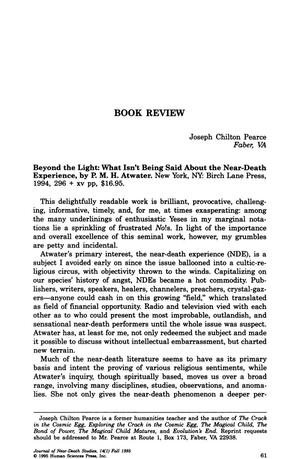 Primary view of object titled 'Book Review: Beyond the Light: What Isn't Being Said About the Near-Death Experience'.